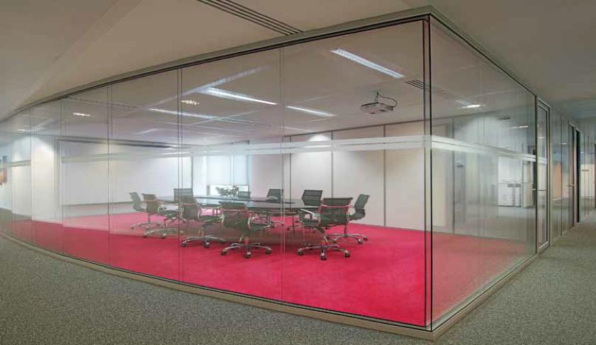 Cloison amovible vitrée pour salle de réunion